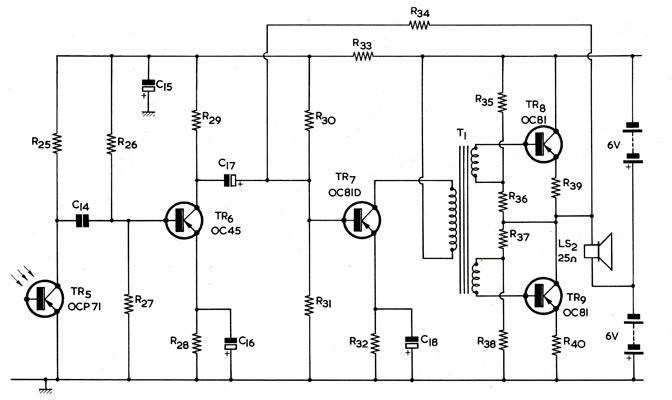 communication by modulated arc beam